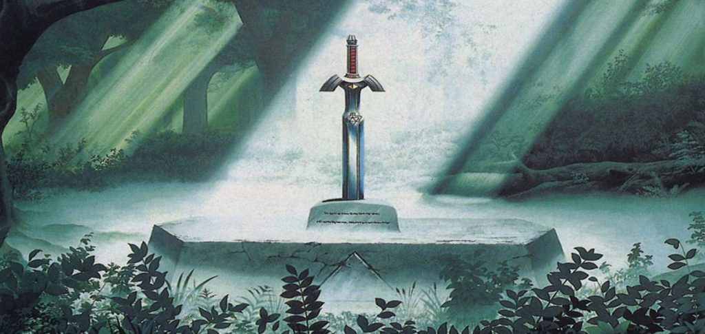 The Master Sword in Link to the Past
