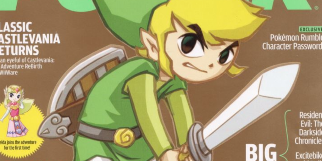 Link on the cover of Nintendo Power