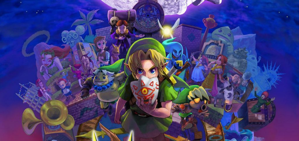 Link and the cast of Majora's Mask
