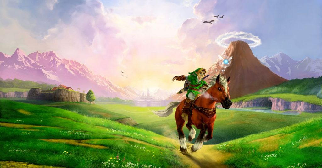 Link and Epona in Hyrule Field