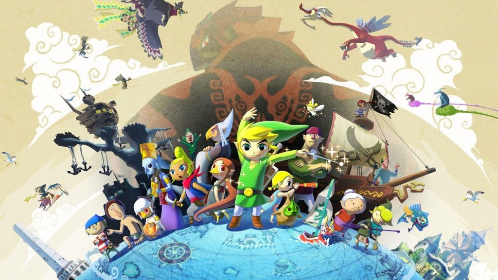 Link and the cast of Wind Waker